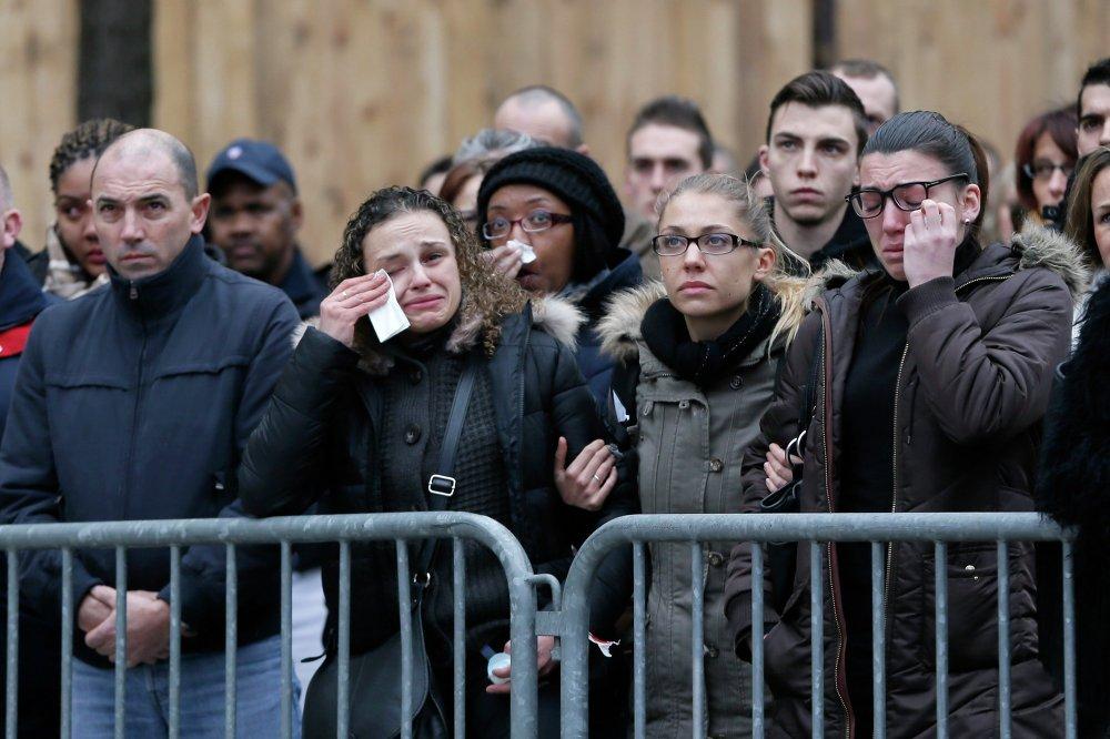 Despedida de las víctimas de los actos terroristas de París
