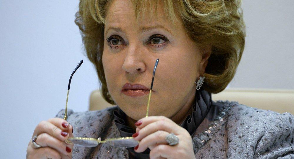 Valentina Matvienko, presidenta del Consejo de la Federación (Senado) de Rusia