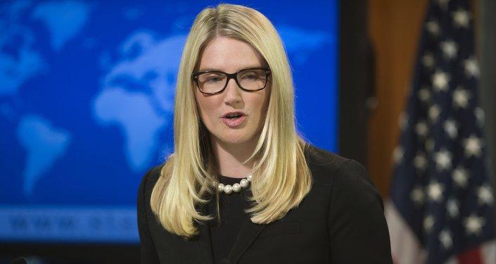 Marie Harf, vocera del Departamento de Estado de EEUU