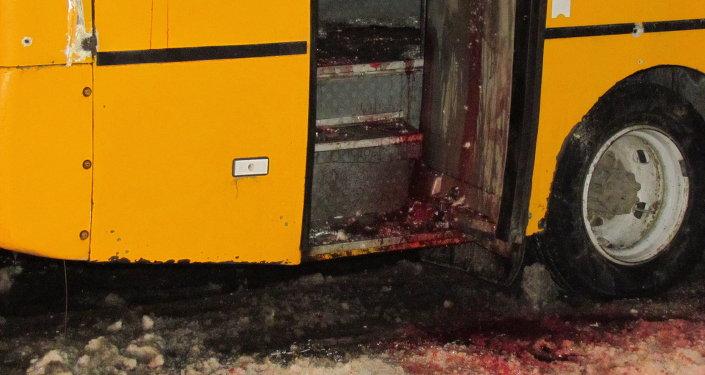 El autobús en Ucrania fue atacado con una mina direccional, dicen las milicias