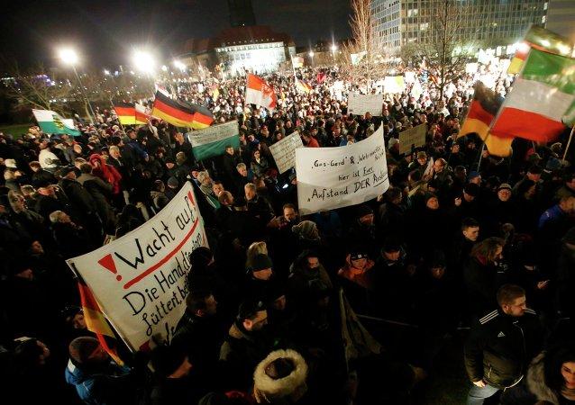 Marcha anti-islámica en Dresde (Archivo)
