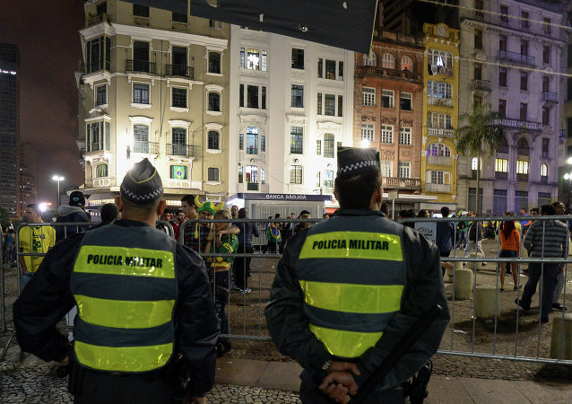 Policías de Sao Paolo