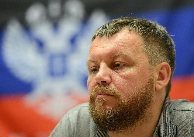 Andréi Purguín, presidente del Parlamento de la autoproclamada República Popular de Donetsk (RPD)