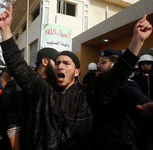 Una manifestación salafista en Gaza muestra apoyo al Estado Islámico