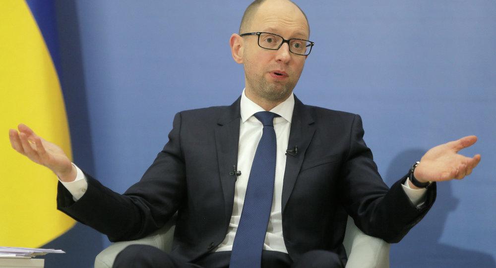 Arseniy Yatsenyuk, el primer ministro de Ucrania