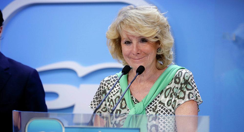 Esperanza Aguirre, expresidenta del Partido Popular en Madrid (PP)
