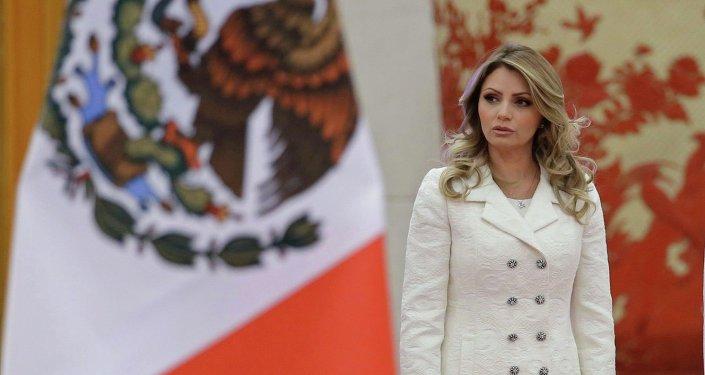 Wife of Mexico's President Enrique Pena Nieto, Angelica Rivera November 13, 2014