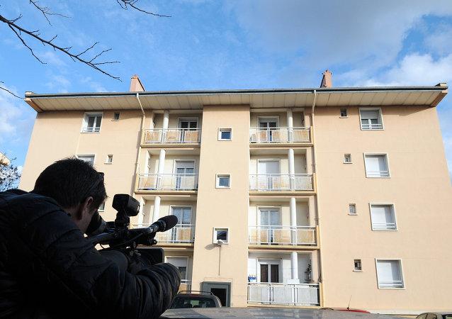 Edificio en Beziers, donde se produjo la detención de cinco ciudadanos rusos