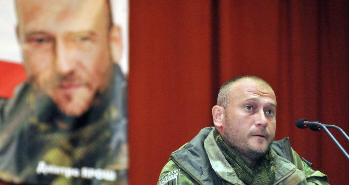 Dmitri Yarosh, líder del grupo radical Pravy Sektor