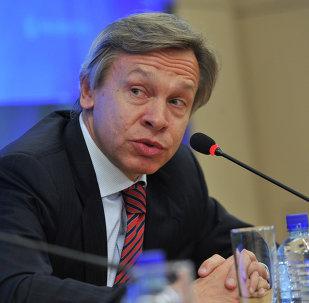 Alexéi Pushkov, jefe de la delegación de Rusia en la PACE