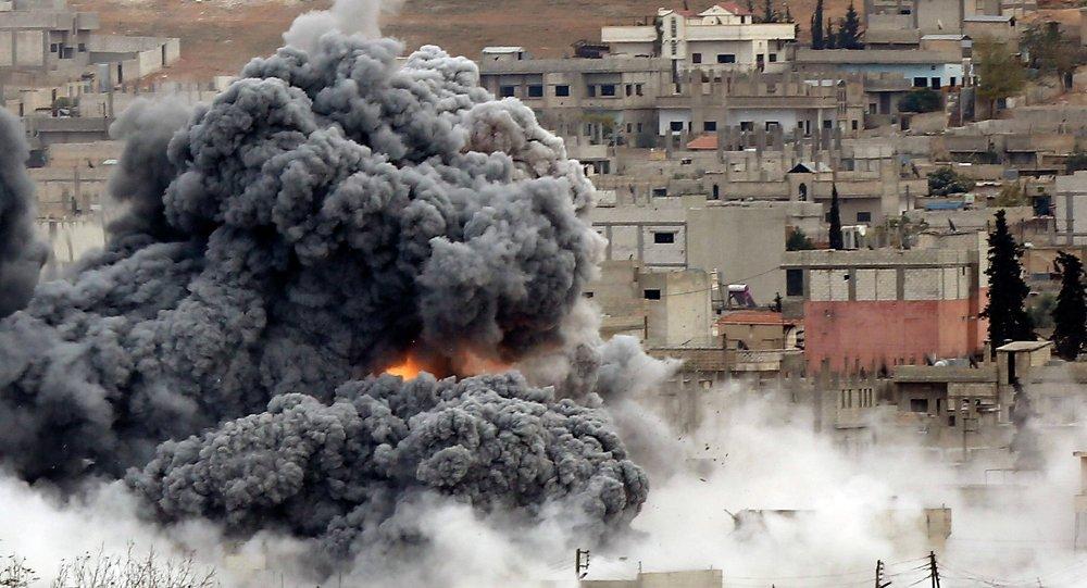 Explosión tras un ataque aéreo en Siria (Archivo)