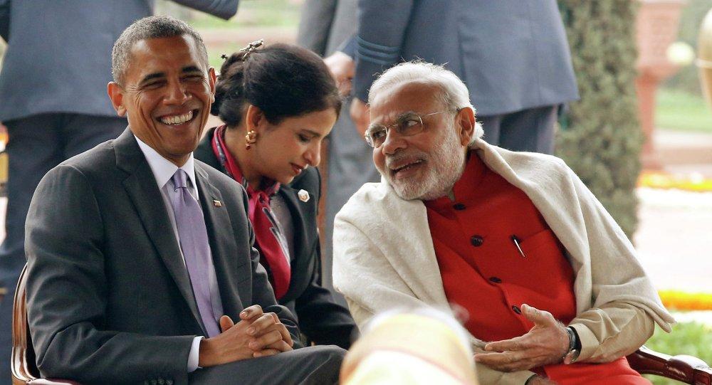 Presidente de EEUU, Barack Obama y primer ministro de India, Narendra Modi