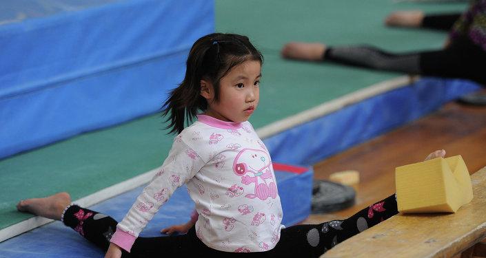 Niña deportista china