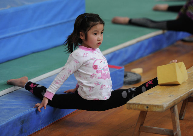 Niña deportista china