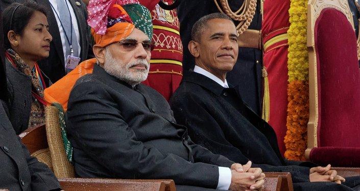 Primer ministro de India, Narendra Modi y presidente de EEUU, Barack Obama