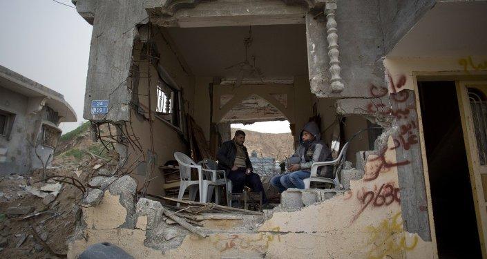 Edificios destruidos en la Franja de Gaza