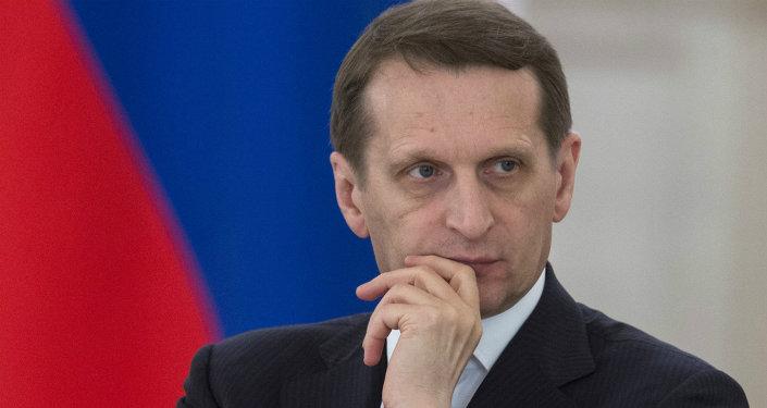 Serguéi Narishkin, presidente de la Duma de Rusia
