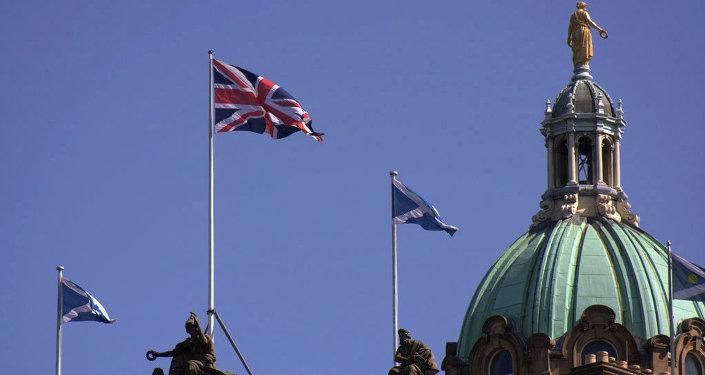 Banderas de Inglaterra y Escocia
