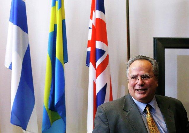 Nikos Kotzias, ministro de Asuntos Exteriores de Grecia
