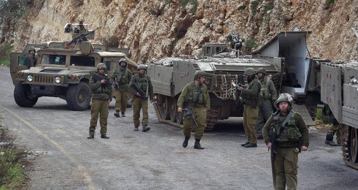 Ejército israelí en la frontera entre Israel y el Líbano