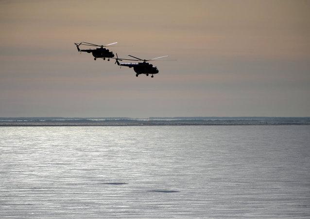 Los helicópteros rusos Mi-8 (archivo)
