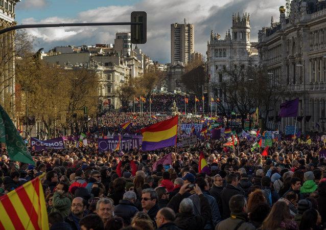 Partidarios de la formación Podemos