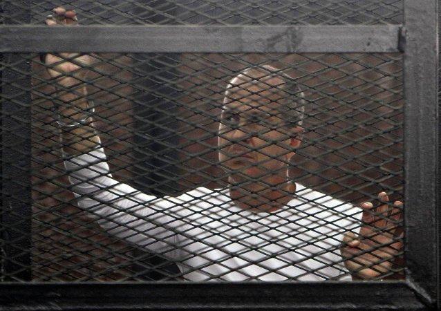 Peter Greste, periodista de la cadena de televisión catarí Al-Yazira (Archivo)
