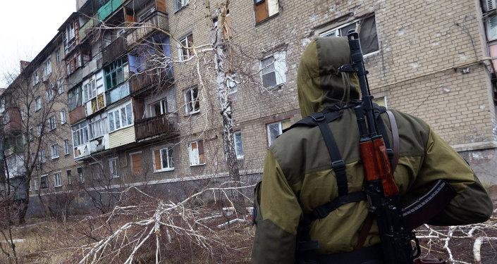 Miliciano prorruso en el este de Ucrania