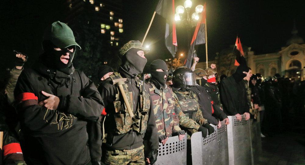 Activistas del movimiento Pravy Sektor