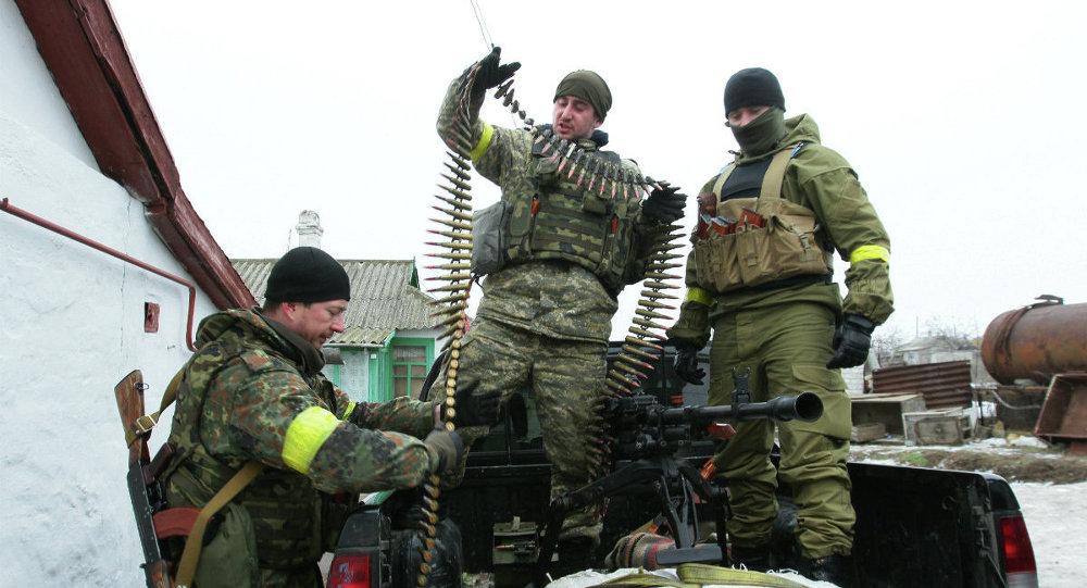 Militares ucranianos en Mariúpol