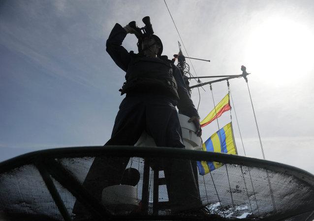 Ejercicios militares en el mar Caspio (Archivo)