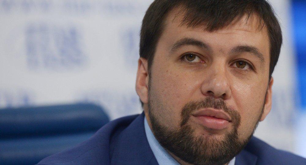 Denís Pushilin, representante de Donetsk en el Grupo de Contacto para el arreglo de la situación en Donbás