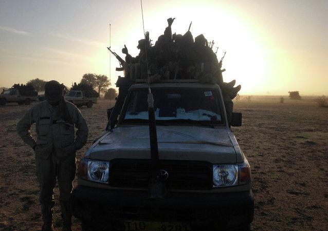 Soldados del ejército de República de Chad