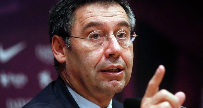 Josep Maria Bartomeu, presidente del club Barcelona