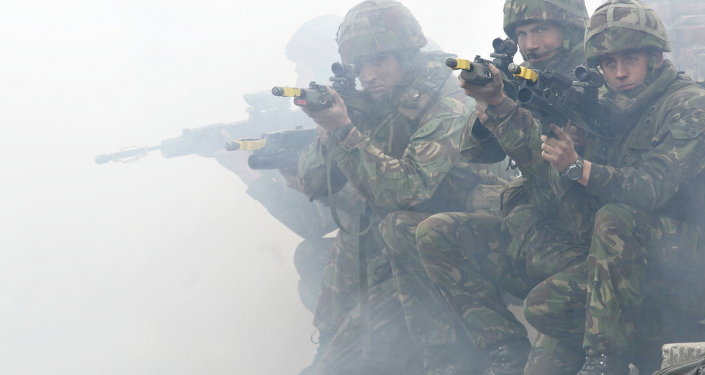 Militares de la OTAN en los ejercicios (Archivo)