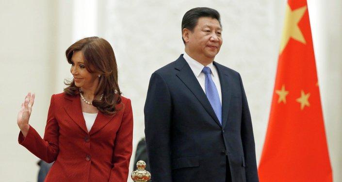 Presidenta de Argentina, Cristina Kirchner y Presidente de la República Popular China, Xi Jinping