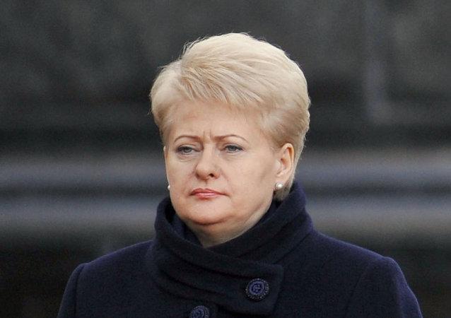 Presidenta lituana Dalia Grybauskaite