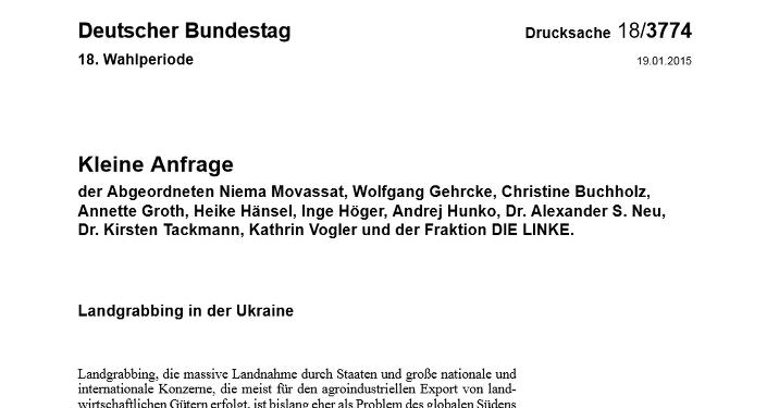 El texto completo de la solicitud de los diputados de Bundestag al Gobierno de Alemania (en alemán)