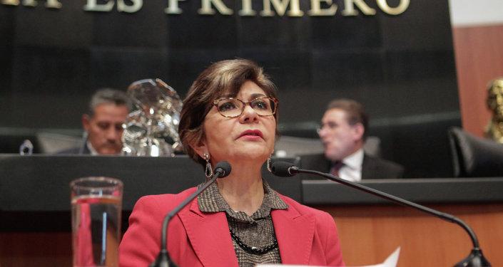 Angélica de la Peña, presidenta de la Comisión de Derechos Humanos del Senado de México