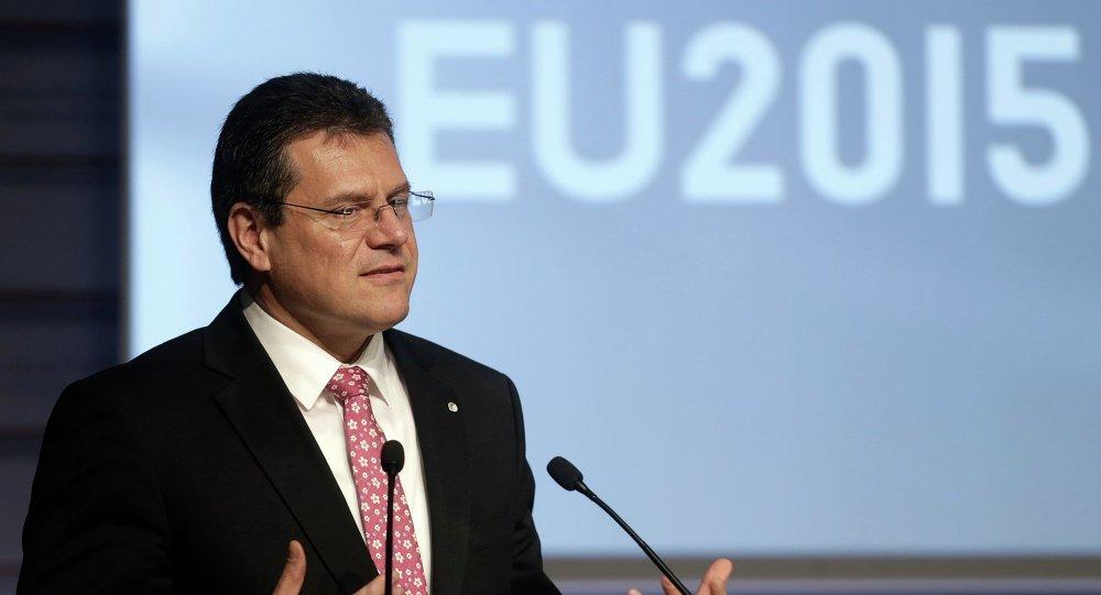 Maros Sefcovic, vicepresidente de la Comisión Europea para la Unión Energética