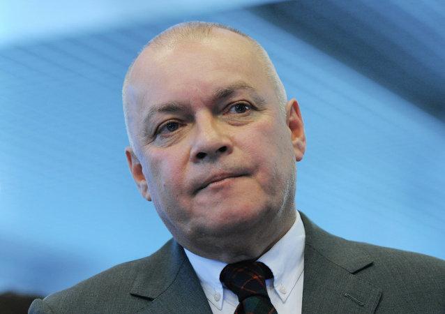 Dmitri Kiseliov, director general de la agencia  Rossiya Segodnya (RS)