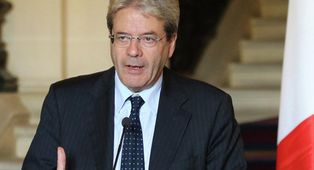 Paolo Gentiloni, ministro de Exteriores italiano