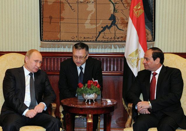 Presidente ruso, Vladímir Putin y presidente egipcio, Abdelfatah al-Sisi