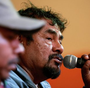 Felipe de la Cruz, representante de los familiares de los jóvenes desaparecidos