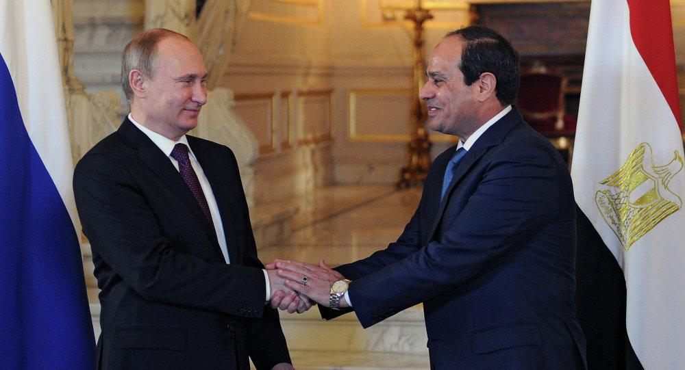 Presidente de Rusia, Vladímir Putin, y presidente de Egipto, Abdelfatah Sisi (archivo)