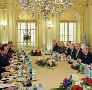 Presidente de Egipto, Abdelfatah al Sisi y presidente de Rusia, Vladímir Putin