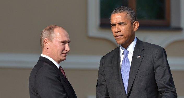 Presidente de Rusia,  Vladímir Putin, y presidente de EEUU, Barack Obama (Archivo)