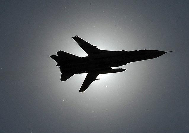Un caza Su-24 ruso (archivo)
