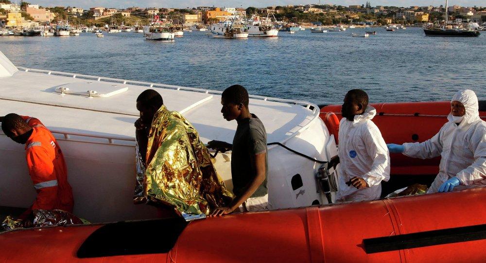 Inmigrantes de Libia en Italia