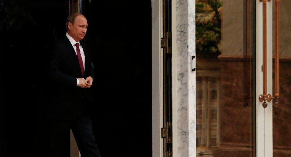 Vladímir Putin, presidente de Rusia, llega a la cumbre de Minsk